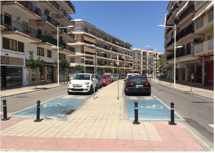Free disabled parking Javea port