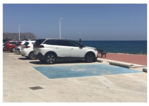 Disabled Parking Cala Blanca