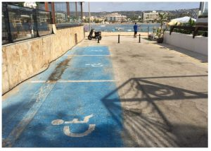 Parking for wheelchairs El Arenal Javea