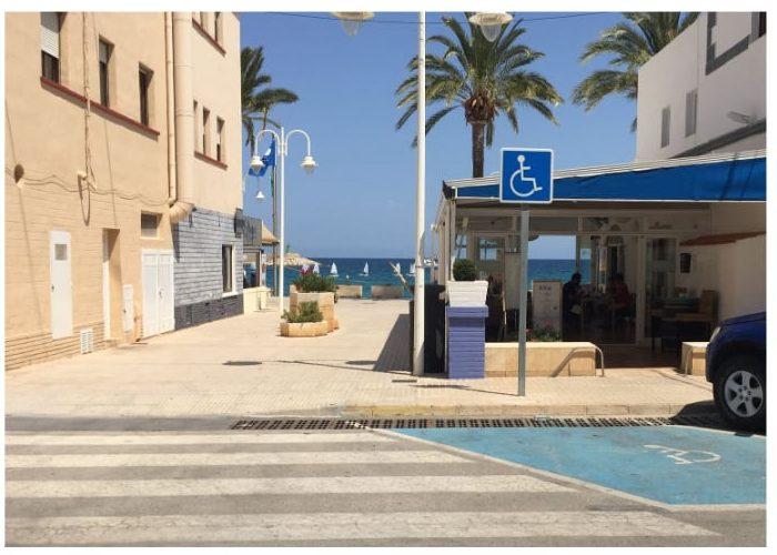 disabled parking Javea port