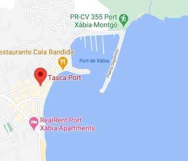 map of tasca port Javea disability review